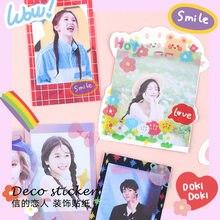 Autocollant décoratif en PVC de la série Flash Time, étiquette autocollante Kawaii pour Album, papeterie scolaire et journal intime, 4 pièces