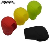 Jingyuqin colorido popular universal proteção manual do carro silicone engrenagem shift coleiras capa apertos de freio de mão para carro|Manopla de freio de mão| |  -