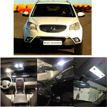 цена на LED Interior Car Lights For Ssangyong  korando ck off road sports off road kyron  car accessories lamp bulb error free