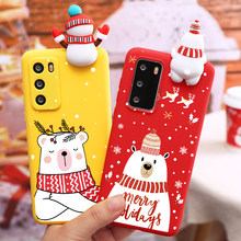 Case For Huawei P Smart 2020 Y8S Y8P Y7 Y7P Y6 Y6P Y5P Prime Y9 2018 Y8 P40 P30 P20 P10 Pro Lite Plus 2019 Christmas Santa Doll(China)