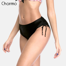 Charmo Womens Bikini Bottom Ladies Side Bandage Swim Trunks Sexy Swimwear Briefs Swimming Bottoms