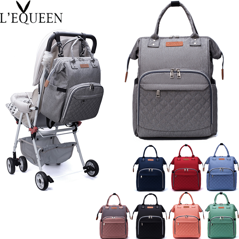 Lequeen Mummy Bag Diaper Bag Travel Backpack Large Capacity Maternity Bag Baby Bag Multifunctional Nursing Bag Baby Care Handbag
