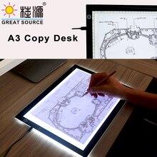 LED Copy Desk Copy Station A3 Cartoon Design Pad With Measure Building Design Light Up Copy Pad(1pc)