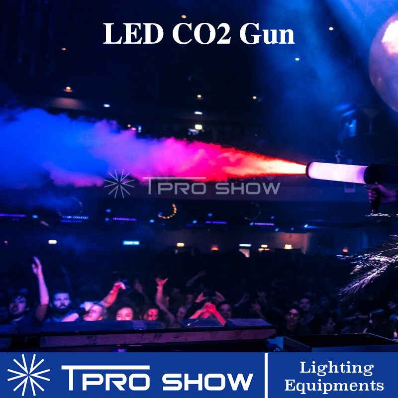 Pistola Co2 LED Gun RGB Jet Cannon Co2 Gun Cryo Machine Special Stage Lighting Effect Jet Pistol For DJ Disco Gas Tank Backpack