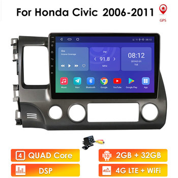 2G+32G Android 10 Car Radio Multimedia Video Player For Honda Civic 8 2005-2011 Navigation GPS No 2din 2 din dvd 4G LTE WIFI FM image