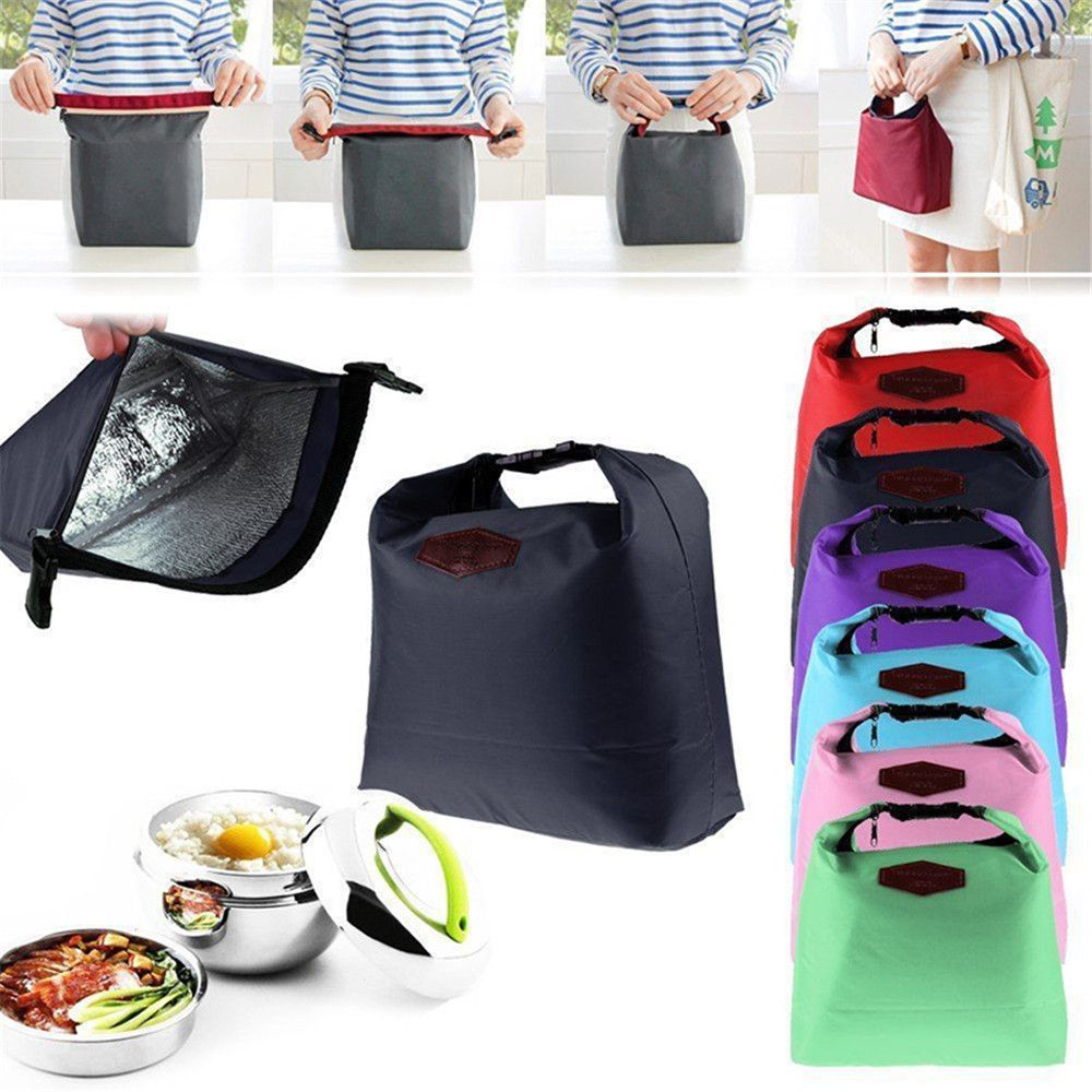 New Portable Waterproof Thermal Insulated Lunch Box Tote Cooler Handbag Bento Pouch Dinner Container School Food Storage Bags