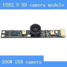 PUAimetis Surveillance camera 200 W super groothoek van 130 graden met dual microfoon USB2.0 camera module