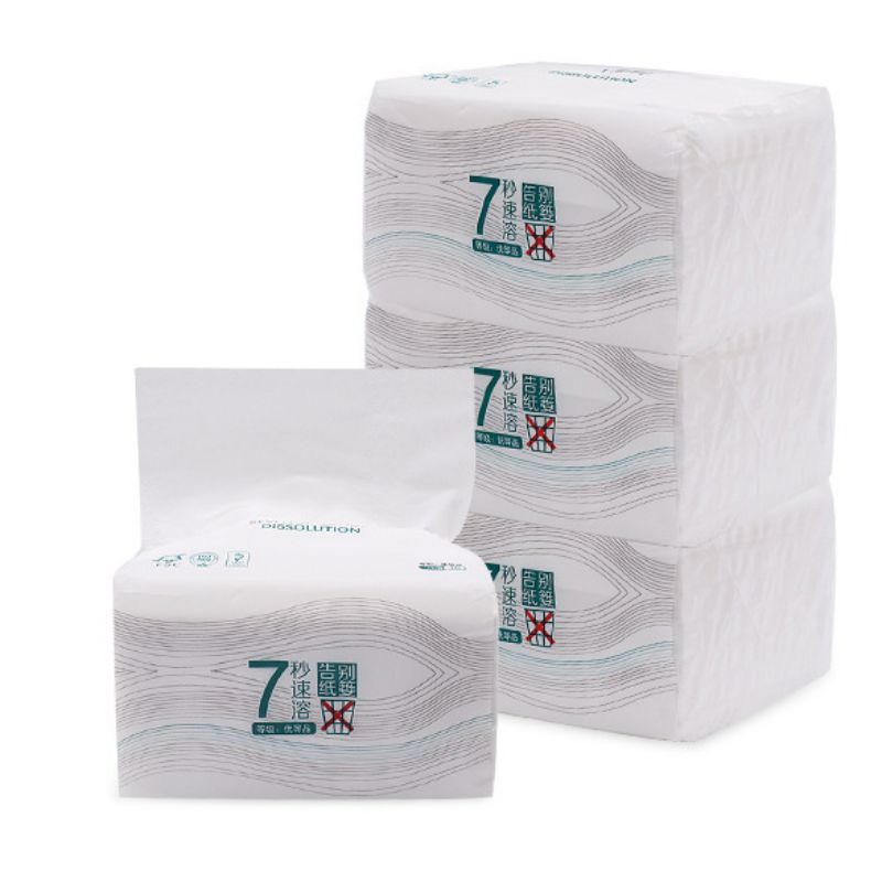 3 Packs/set  Toilet Paper Serviettes Paper Napkins Health Bamboo Fiber Tissue  Absorbent Antibacterial Extractable Facial Tissue