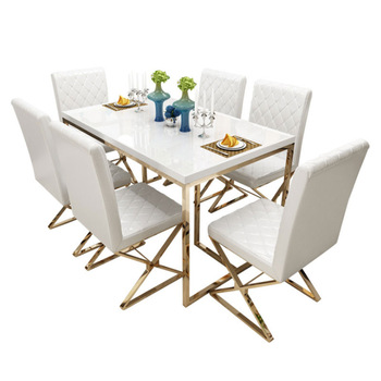 Light Luxury Dining Table and Chair Set  1