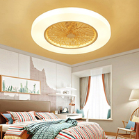 58cm LED ceiling Fans thin dimming remote control lamp Invisible Leaves timing 72w Modern simple home decoration