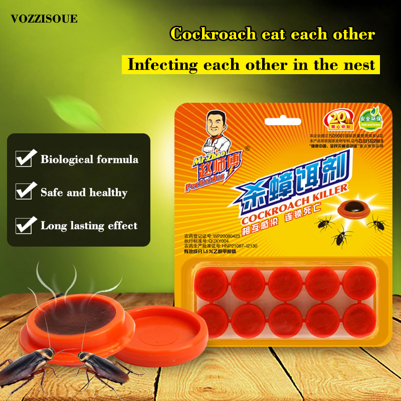 Infection Cockroach Gel Killing Bait Insecticide Cockroach Trap Serial Killer Pest Control Drugs Convenient Repellent Trap 1 Box