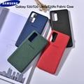 Тканевый чехол для Samsung Note 20 Ultra S20fe, Официальный Мягкий тканевый чехол на заднюю панель для Galaxy note 20 ultra S20 FE, корпус