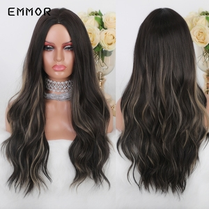 Image 5 - JONRENAU Long Synthetic Natural Wave Brown to Golden Blonde Ombre  Hair Wig Daily Wear Wigs for White /Black women