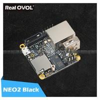 Refriendlyarm NanoPi NEO2 Black lts 1GB ARM board A53 mini linux board RealQvol emmc TF карта поддерживает быстрее, чем Raspberry PI