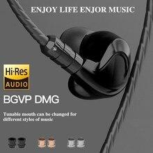 Bgvp Dmg 2DD 4BA Hybrid Driver In-Ear Oortelefoon Monitor Noise Cancelling Wired Muziek Oordopjes Running Mmcx Kabel Muziek speler