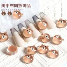 Face-Nail-Accessories Nail-Drill Smiley Resin Japanese Bear Rabbit Cute Cartoon 10/50pcs