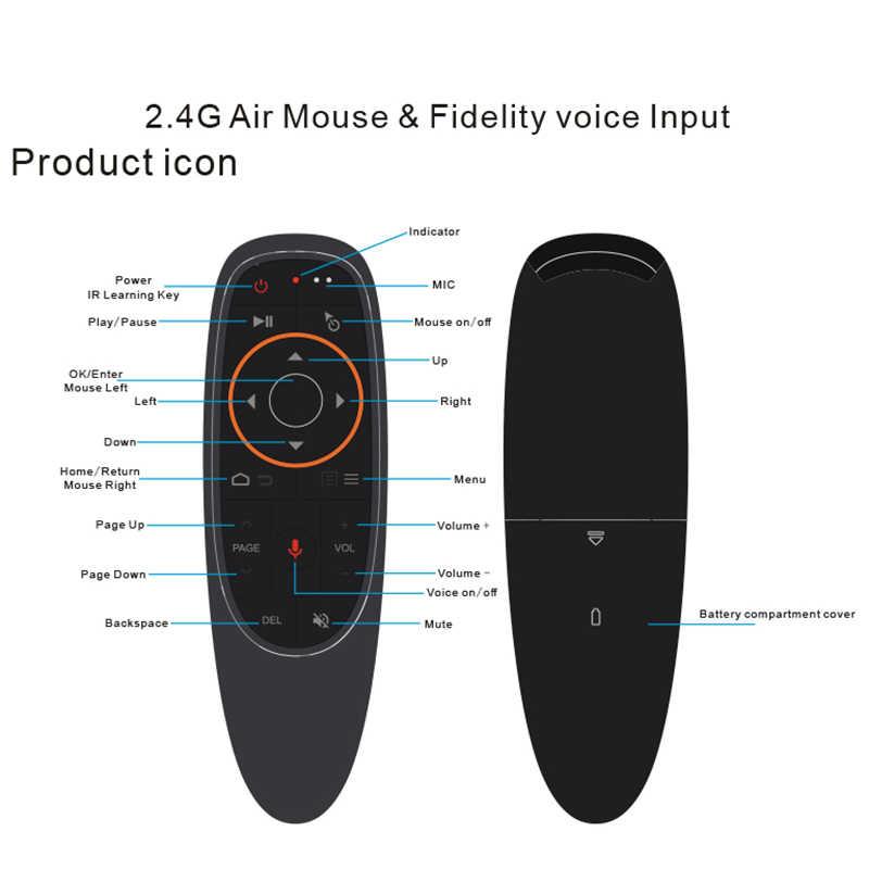 Kebidu G20S/G10S 2.4G kablosuz hava fare jiroskop IR öğrenme akıllı ses Gyro uzaktan kumanda için X96 H96 MAX Android kutusu