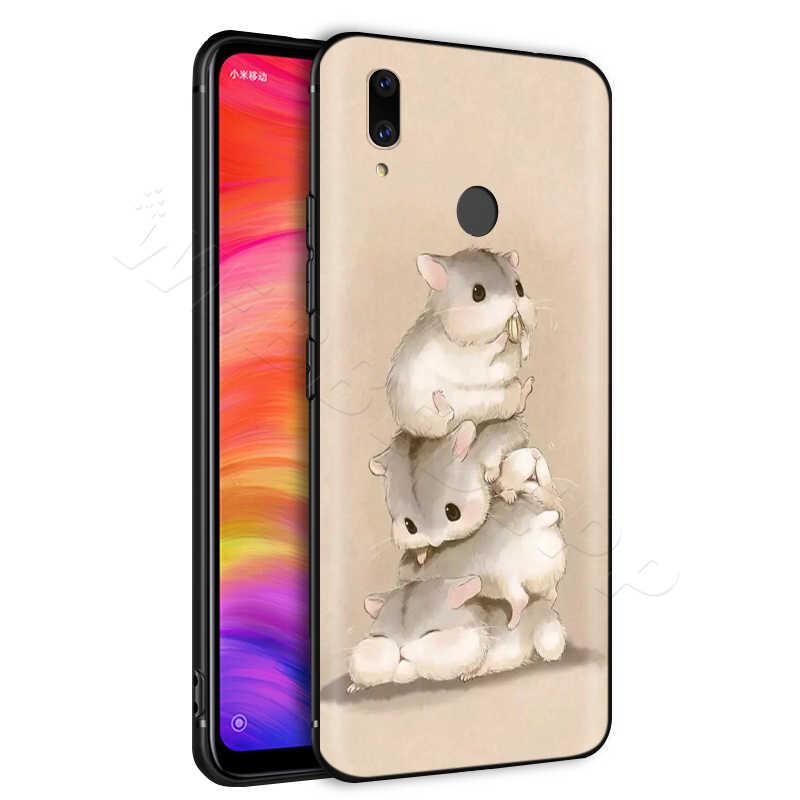 חמוד עכבר מקרה עבור Xiaomi Redmi 4A 4X5 5A 6 6A 7 7A S2 הערה ללכת K20 פרו בתוספת ראש 8T