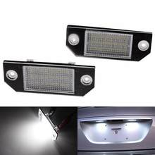 For Ford Focus C-MAX MK2 LED License Plate Lights 24 LED 6000K Ultra White Built-in Regulator Number Plate Lamps 1 Pair(China)