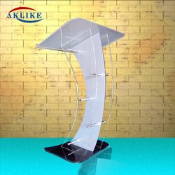 Church Podiums Pulpits White Acrylic Podium Victory Stand Aklike Valet Podium Stand With Angled Reading Surface Pulpitos Para Ig