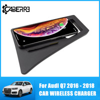 Special Wireless Car Charger For Audi Q7 2016 2017 2018 Intelligent Infrared Fast Wireless Charging Car For IPhone for Samsung|  -