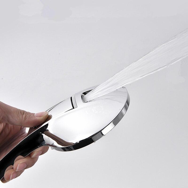 1pc New Design Waterfall 4 Function Hand Held Shower Head High Pressure Rain Shower Sprayer Set Water Saving Sprayer