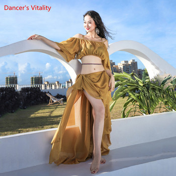 Belly Dance New Female Adult Elegant Top Big Swing Skirt Practice Clothes Suit Oriental Dancing Shirt Performance Clothing - discount item  40% OFF Stage & Dance Wear