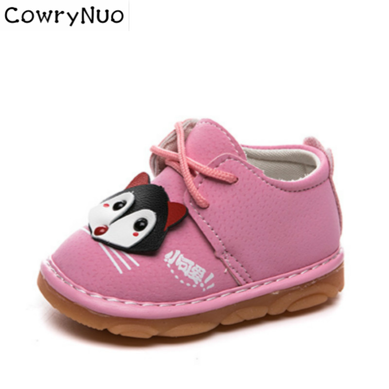 Insole 10.5-12.5cm New Baby Walking Shoes Babies Cartoon Shoes with Sound