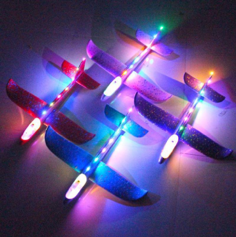 10 pièces/lot mousse matériel main jet avion extérieur lancement planeur enfants cadeau modèle jouet 48 Cm Fun enfants hélicoptère jouets 3