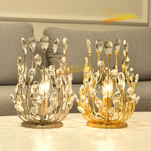 Modern Light Luxury Crystal LED Table Lamp Lighting Nordic Crown Floral Table Lights Princess Room Bedroom Living Room Loft Lamp nordic luxury led table lamp lighting modern k9 material crystal minimalist table lights study bedroom dining room table lamps