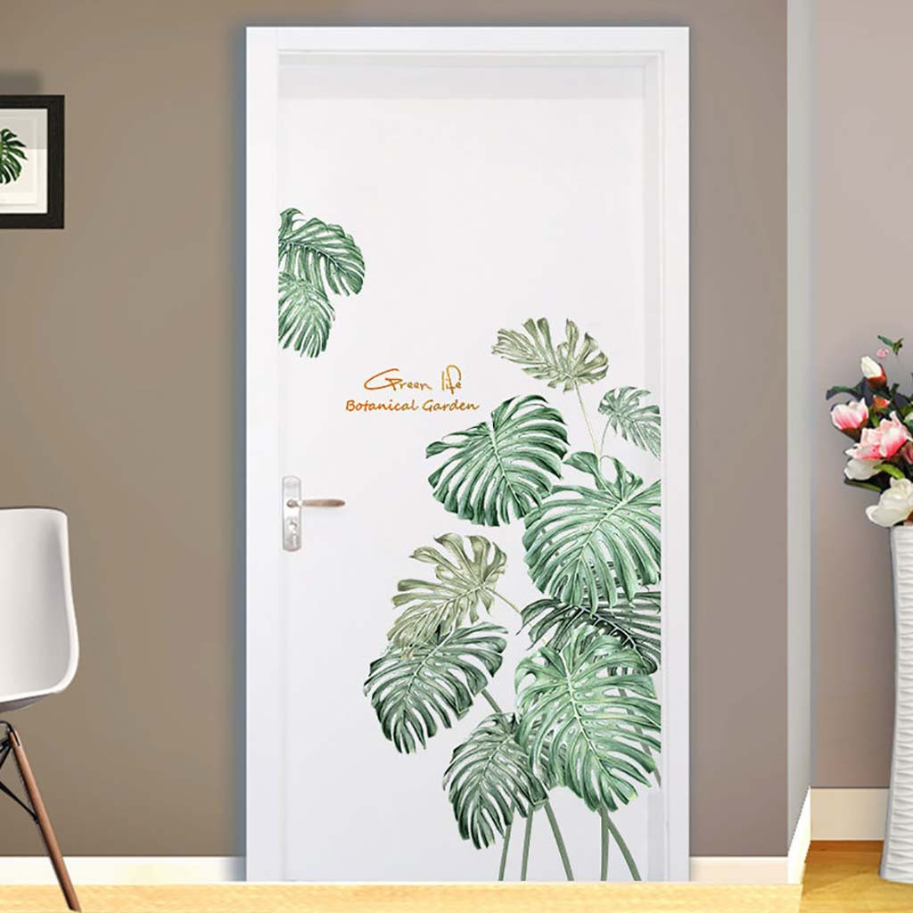 #s 1 PC DIY Tropical Beach Palm Leaves Wall Sticker Modern Art Decal Vinyl Mural 60*90cm Wall Stickers For Kids Rooms Home Decor 1