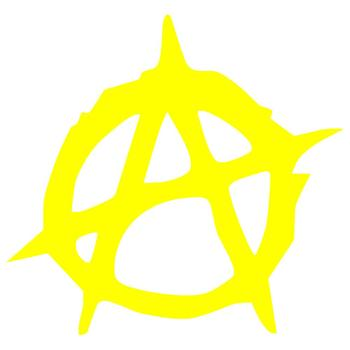 Creative Anarchy Symbol Car-Styling Truck Body Window Decals Reflective Sticker Decor image