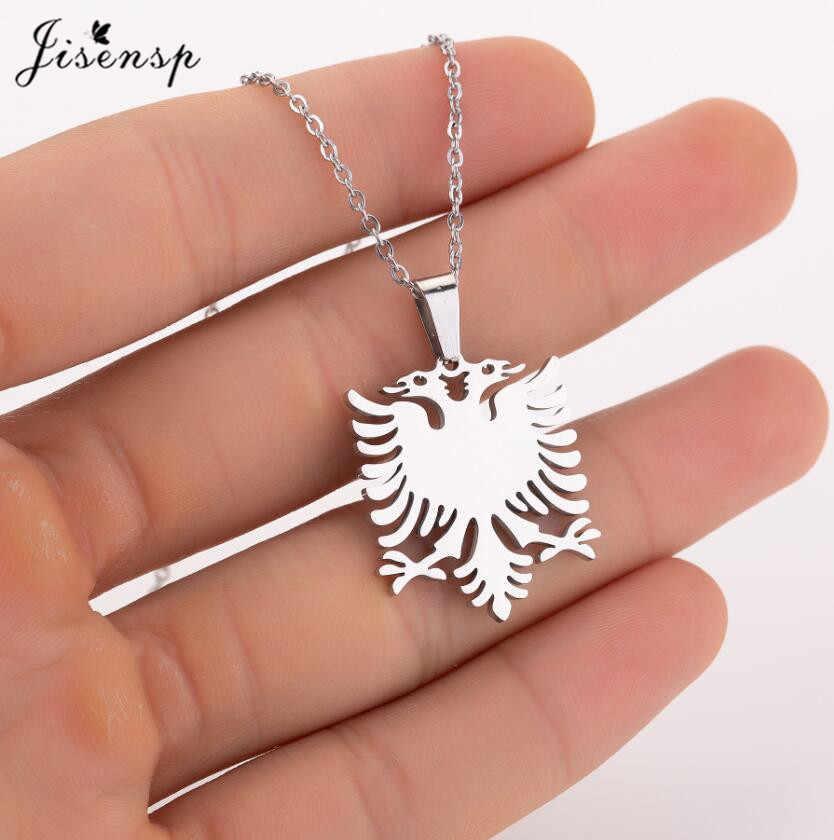 Jisensp w stylu Vintage Gothic Phoenix Choker naszyjnik biżuteria dla zwierząt dla kobiet mężczyzn ze stali nierdzewnej albanii Eagle wisiorek naszyjnik