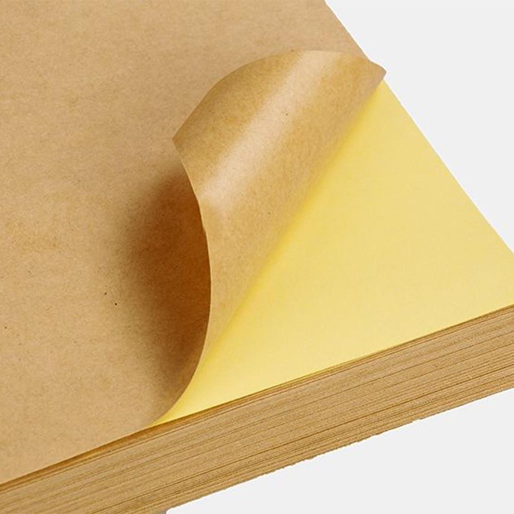 Купить с кэшбэком Printing adhesive, kraft paper sticker, customized various shapes