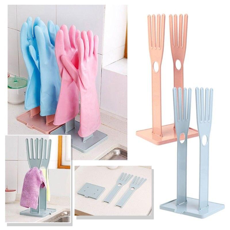 ABS Kitchen Rubber Gloves Racks Drain Towel Storage Holders Supplies Products Gear Items Stuff Kitchen Sink Accessories