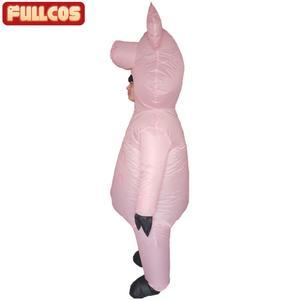 Image 4 - Rosa porco inflável trajes de porco para adultos animal halloween carnaval cosplay festa fantasia vestido feminino masculino aniversário roupas rosa