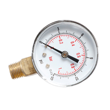 15psi 0-1bar Axial Pressure Gauge for Fuel Oil Or Water Mini Low Hydraulic Se25