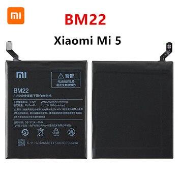 Xiao mi 100% Orginal BM22 3000mAh Battery For Xiaomi Mi 5 Mi5 M5 BM22 High Quality Phone Replacement Batteries high quality for xiao mi bm51 battery 5400mah in stock