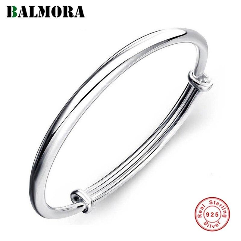 BALMORA 999 en argent Sterling Vintage Couple ouvert bracelet bracelets pour femme hommes cadeau Simple Cool mode élégant bijoux