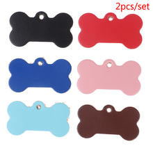 Genuine Leather Pet ID Tag Dog Cat Collars Anti-lost Name Phone Number Tags