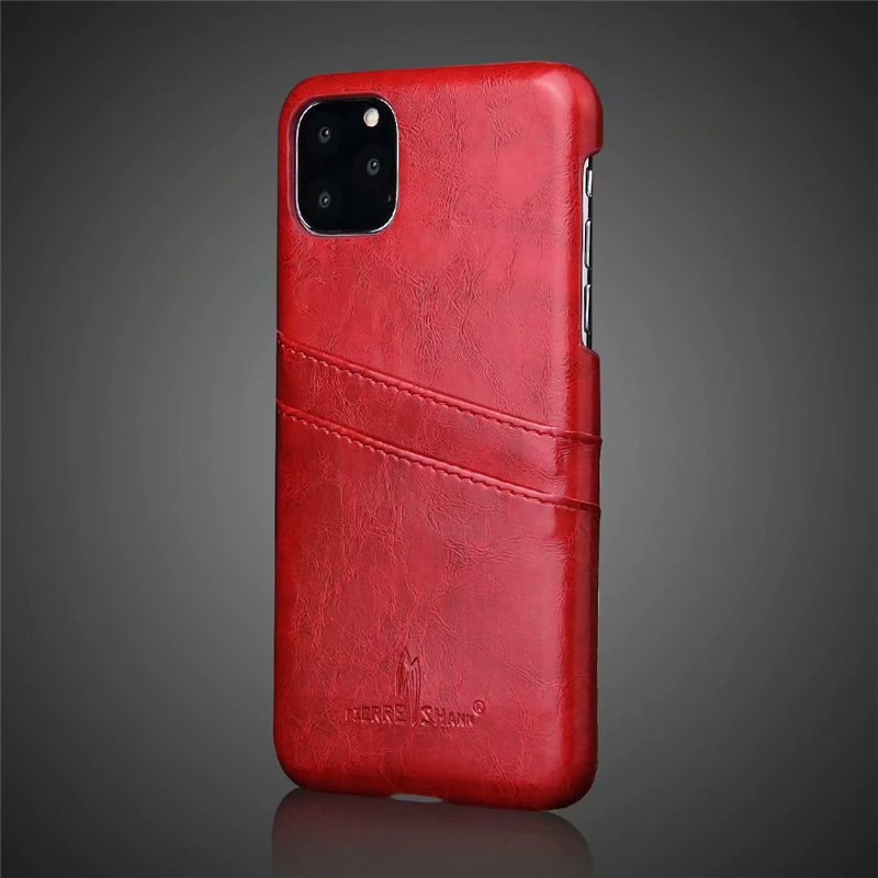 Slim Hard Leather Card Holder Case for iPhone 11/11 Pro/11 Pro Max 21