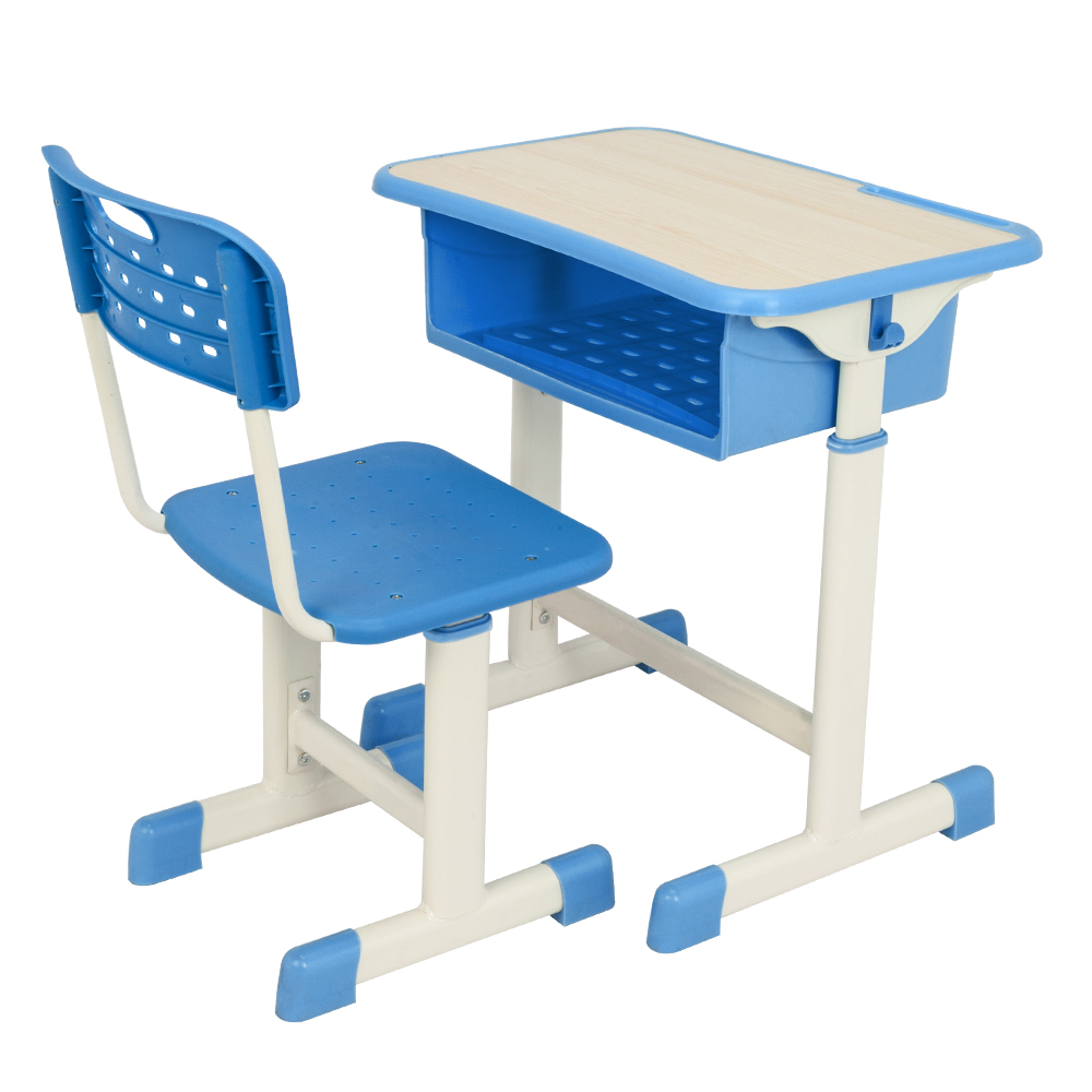 【US Warehouse】Adjustable Student Desk And Chair Kit Blue