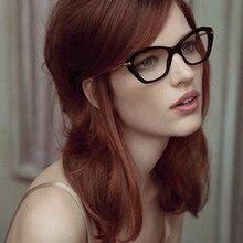 NEW Cat Eye Glasses Vintage Sunglass Women Men Optical Aviation eyeglass Transpa