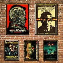 Cartel Vintage The Terminator papel kraft impresión pared pintura hogar Decoración de pared póster pegatina de pared