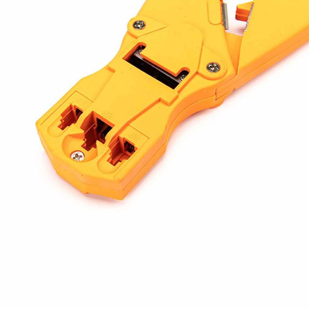 専門家のネットワーククリスタルヘッド圧縮多機能クランププレスプライヤー切断クリンパツール