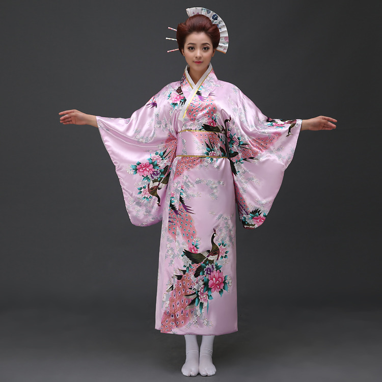Hot Sale Japanese Women Original Yukata Dress Traditional Kimono With Obi Performance Dance Costumes One Size