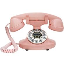 Teléfono Fijo Retro Vintage 1-auricular teléfono fijo con cable con botón, remarcar para Hotel de oficina en casa