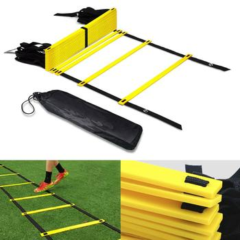 2020 Soccer Football Training Ladder Agility Speed Training Stairs Ladder Outdoor Agile Pace Nylon Staircase Adjustable 3M 4M 6M недорого