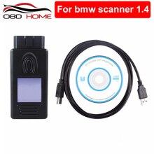 اكسسوارات السيارات ل BMW الماسح الضوئي 1.4.0 FTDI رقاقة OBD OBDII USB واجهة التشخيص متعددة الوظائف فتح النسخة 1.4
