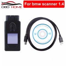 Interfaz de diagnóstico multifunción para coche, escáner automotriz OBD OBDII con interfaz USB, versión 1,4, accesorios para BMW